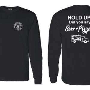 beer and pizza long sleeve shirt