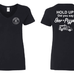 beer and pizza womans shirt rustic taps