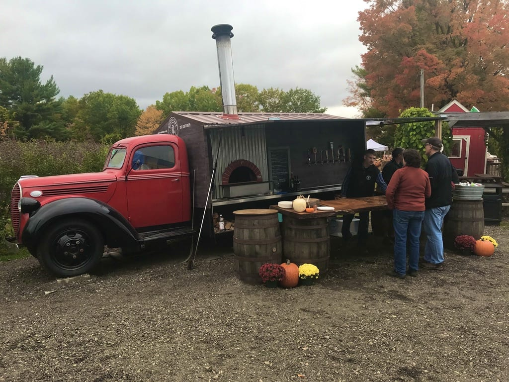 Rustic Taps Truck at an apple orchard