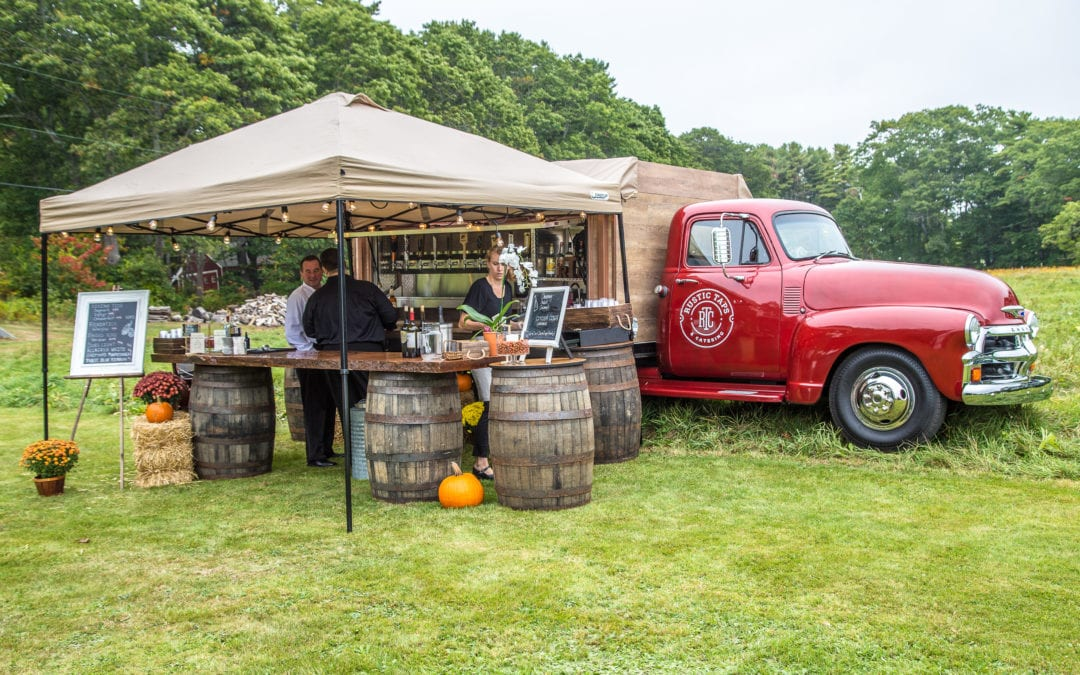bar service in front of catering truck